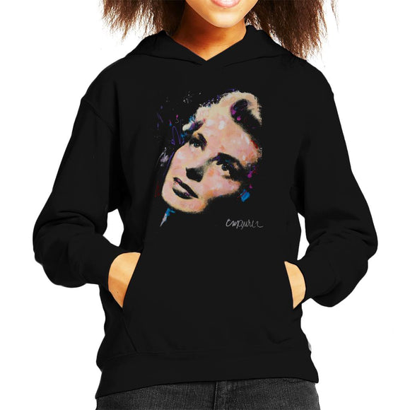 Sidney Maurer Original Portrait Of Ingrid Bergman Kid's Hooded Sweatshirt