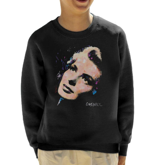 Sidney Maurer Original Portrait Of Ingrid Bergman Kid's Sweatshirt