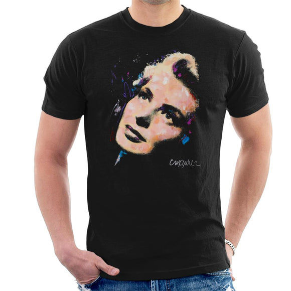 Sidney Maurer Original Portrait Of Ingrid Bergman Men's T-Shirt