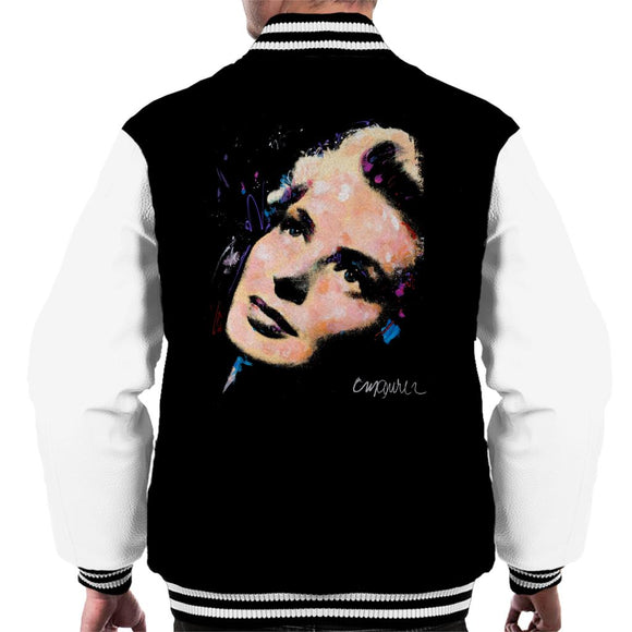 Sidney Maurer Original Portrait Of Ingrid Bergman Men's Varsity Jacket