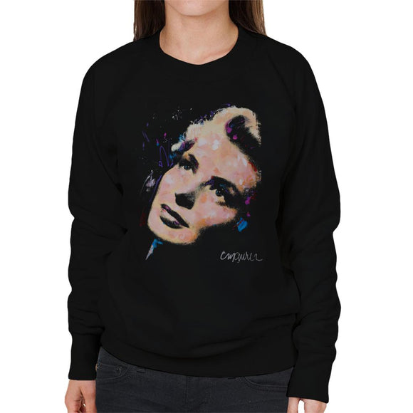 Sidney Maurer Original Portrait Of Ingrid Bergman Women's Sweatshirt