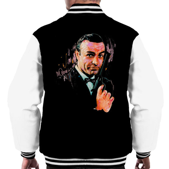 Sidney Maurer Original Portrait Of Sean Connery James Bond Men's Varsity Jacket