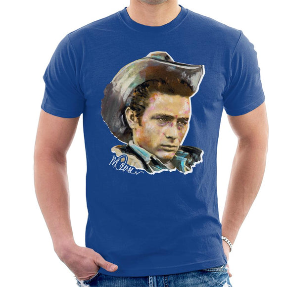 Sidney Maurer Original Portrait Of James Dean Cowboy Hat Men's T-Shirt