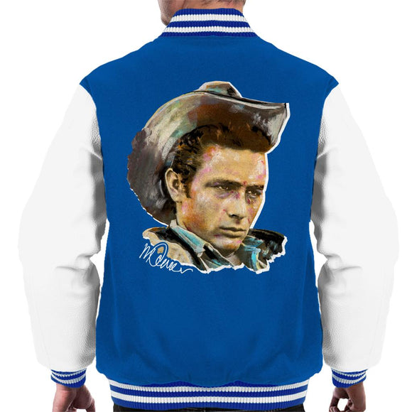 Sidney Maurer Original Portrait Of James Dean Cowboy Hat Men's Varsity Jacket