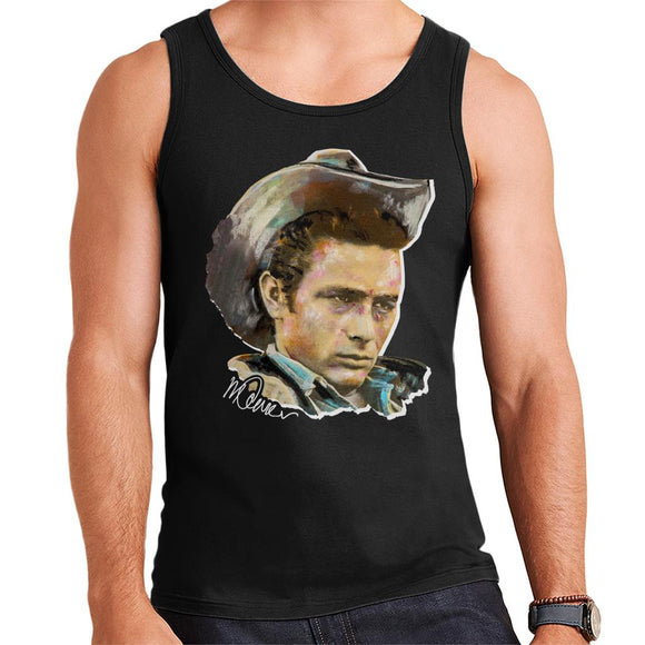 Sidney Maurer Original Portrait Of James Dean Cowboy Hat Men's Vest