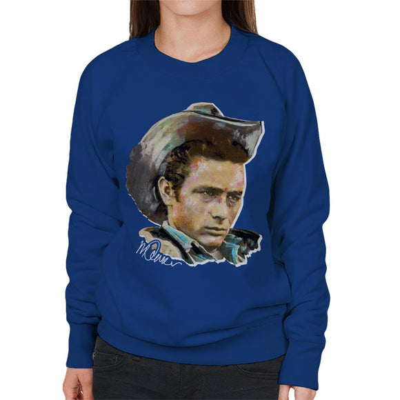 Sidney Maurer Original Portrait Of James Dean Cowboy Hat Women's Sweatshirt