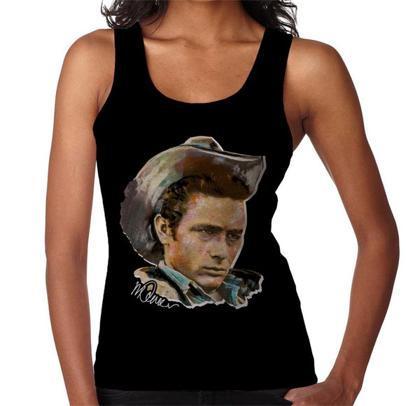 Sidney Maurer Original Portrait Of James Dean Cowboy Hat Women's Vest