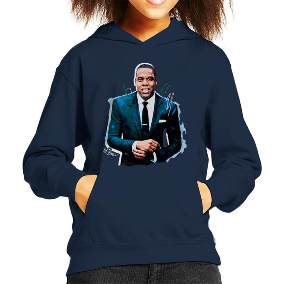 Sidney Maurer Original Portrait Of Jay Z Suit Kid's Hooded Sweatshirt