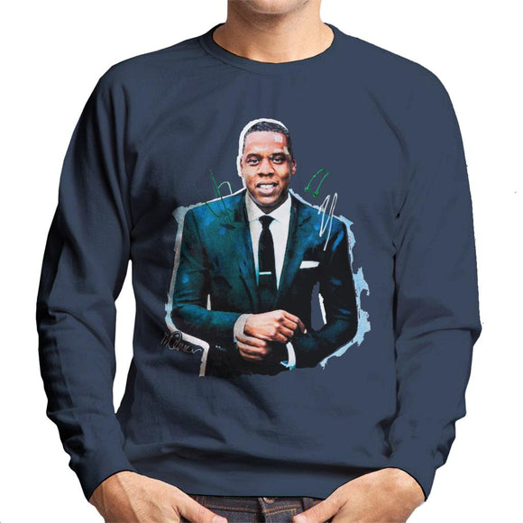 Sidney Maurer Original Portrait Of Jay Z Suit Men's Sweatshirt