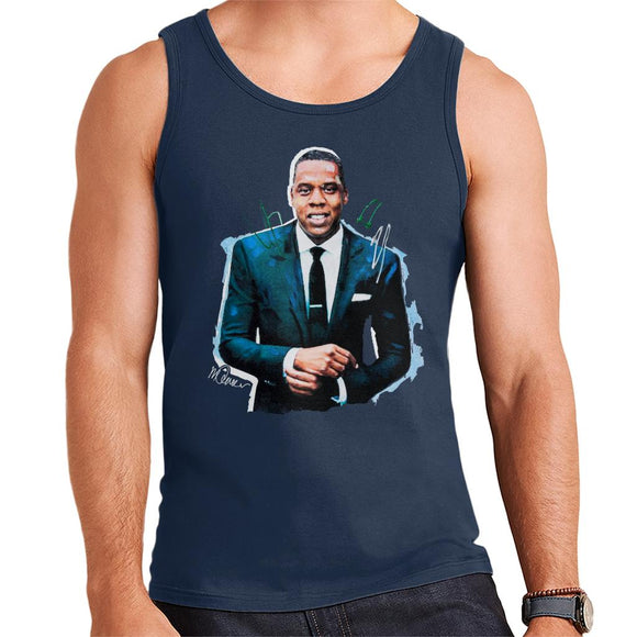 Sidney Maurer Original Portrait Of Jay Z Suit Men's Vest
