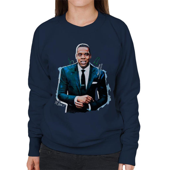 Sidney Maurer Original Portrait Of Jay Z Suit Women's Sweatshirt