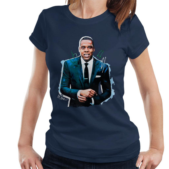 Sidney Maurer Original Portrait Of Jay Z Suit Women's T-Shirt
