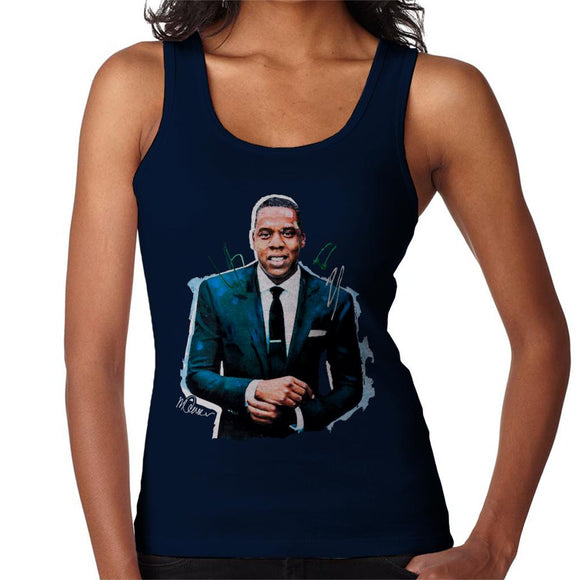 Sidney Maurer Original Portrait Of Jay Z Suit Women's Vest