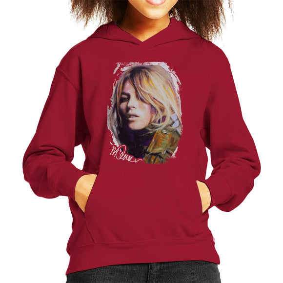 Sidney Maurer Original Portrait Of Kate Moss Army Jacket Kid's Hooded Sweatshirt