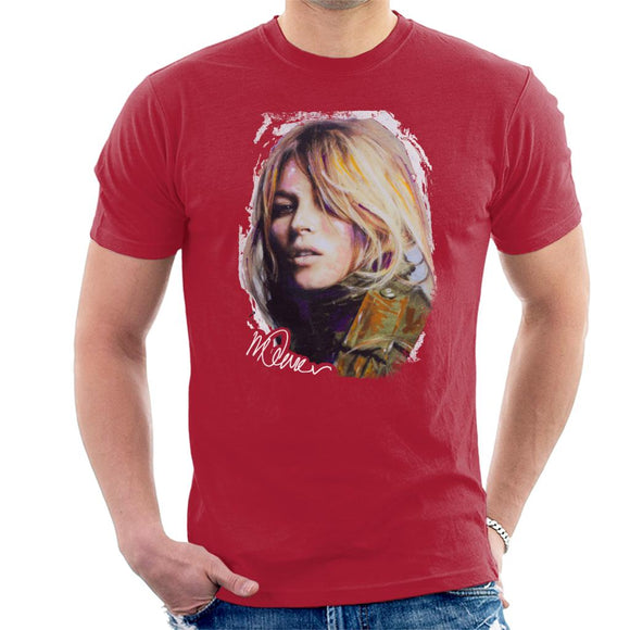 Sidney Maurer Original Portrait Of Kate Moss Army Jacket Men's T-Shirt