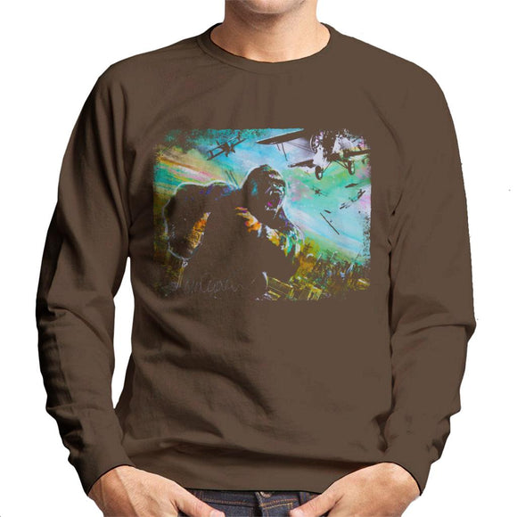Sidney Maurer Original Portrait Of King Kong Vs Planes Men's Sweatshirt