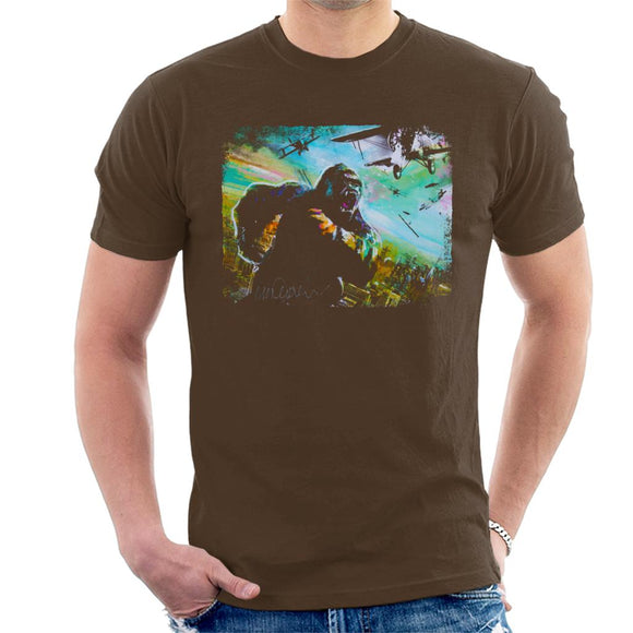 Sidney Maurer Original Portrait Of King Kong Vs Planes Men's T-Shirt