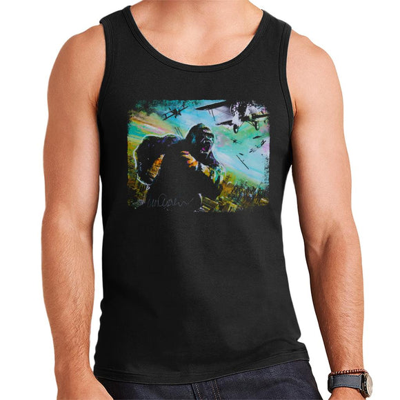 Sidney Maurer Original Portrait Of King Kong Vs Planes Men's Vest