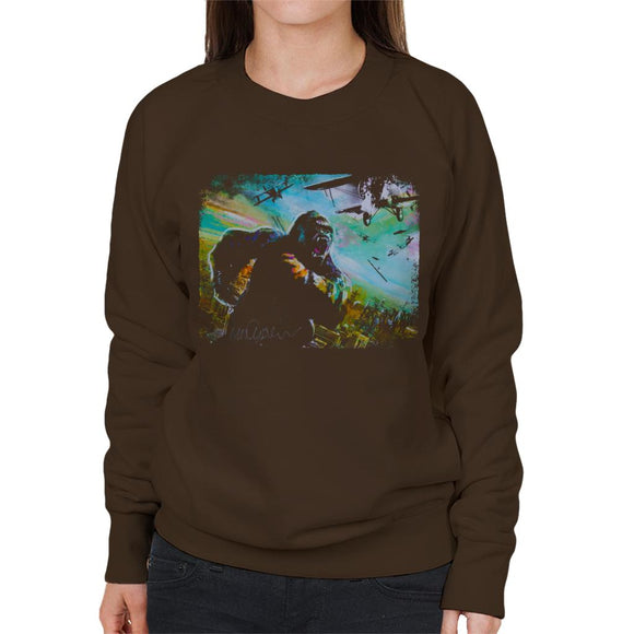 Sidney Maurer Original Portrait Of King Kong Vs Planes Women's Sweatshirt