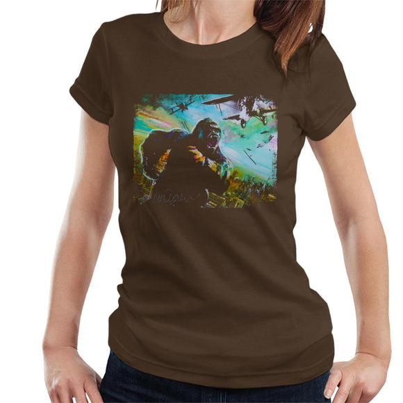 Sidney Maurer Original Portrait Of King Kong Vs Planes Women's T-Shirt