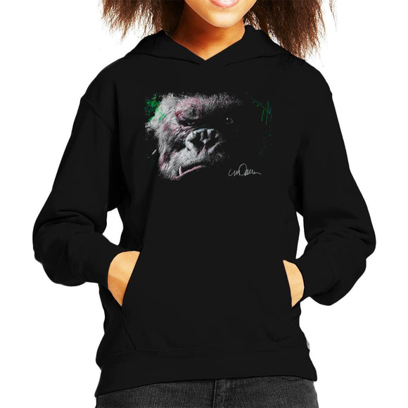 Sidney Maurer Original Portrait Of King Kong Glare Kid's Hooded Sweatshirt