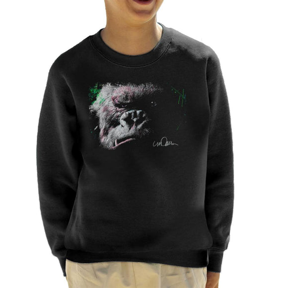 Sidney Maurer Original Portrait Of King Kong Glare Kid's Sweatshirt