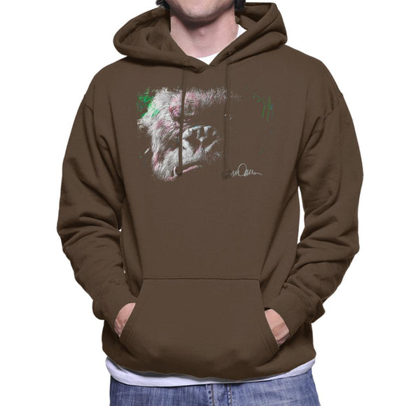 Sidney Maurer Original Portrait Of King Kong Glare Men's Hooded Sweatshirt