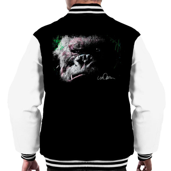 Sidney Maurer Original Portrait Of King Kong Glare Men's Varsity Jacket