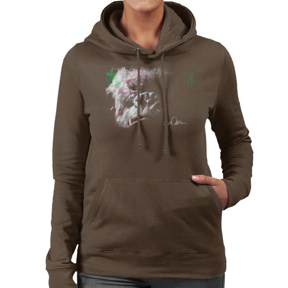 Sidney Maurer Original Portrait Of King Kong Glare Women's Hooded Sweatshirt