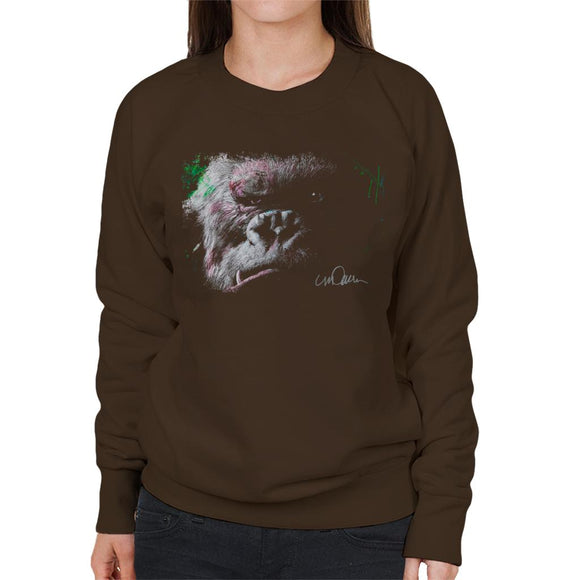 Sidney Maurer Original Portrait Of King Kong Glare Women's Sweatshirt