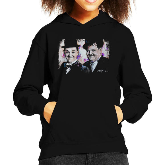 Sidney Maurer Original Portrait Of Laurel And Hardy Kid's Hooded Sweatshirt