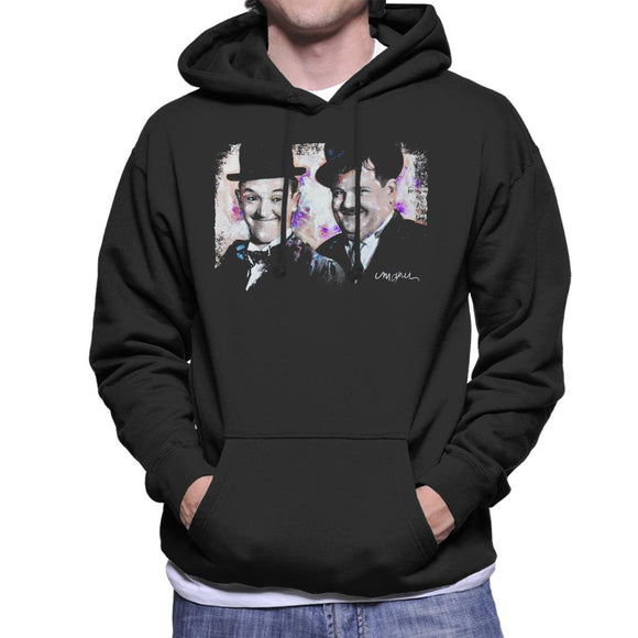 Sidney Maurer Original Portrait Of Laurel And Hardy Men's Hooded Sweatshirt