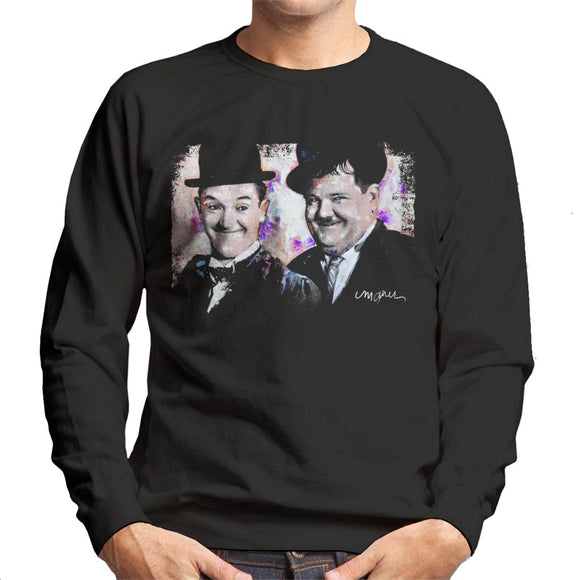 Sidney Maurer Original Portrait Of Laurel And Hardy Men's Sweatshirt