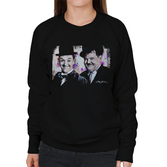 Sidney Maurer Original Portrait Of Laurel And Hardy Women's Sweatshirt
