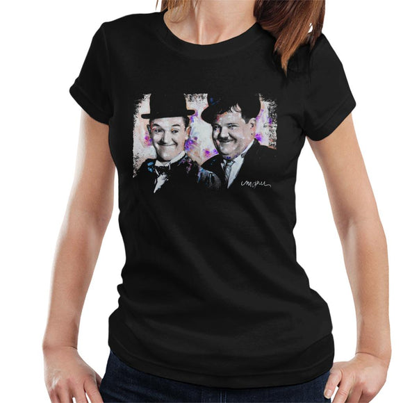 Sidney Maurer Original Portrait Of Laurel And Hardy Women's T-Shirt