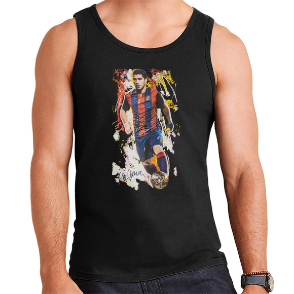 Sidney Maurer Original Portrait Of Luis Suarez Barcelona Men's Vest