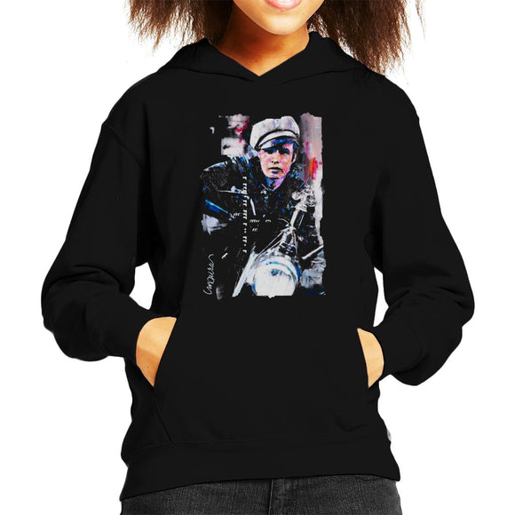 Sidney Maurer Original Portrait Of Marlon Brando The Wild One Kid's Hooded Sweatshirt