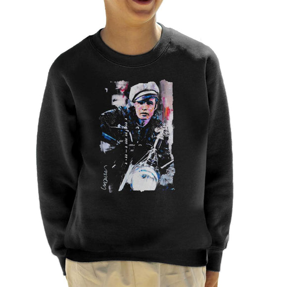 Sidney Maurer Original Portrait Of Marlon Brando The Wild One Kid's Sweatshirt