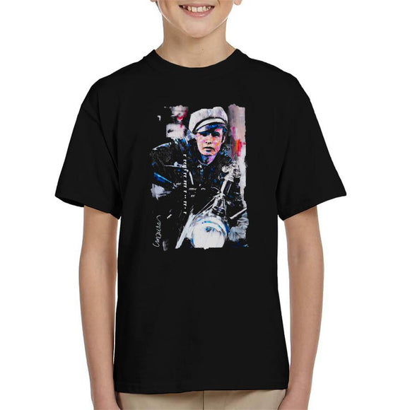 Sidney Maurer Original Portrait Of Marlon Brando The Wild One Kid's T-Shirt