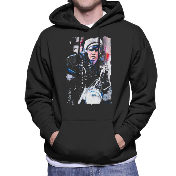Sidney Maurer Original Portrait Of Marlon Brando The Wild One Men's Hooded Sweatshirt