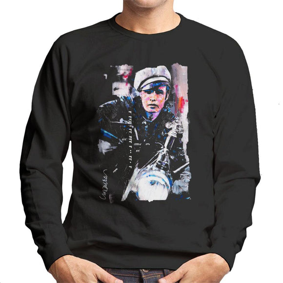 Sidney Maurer Original Portrait Of Marlon Brando The Wild One Men's Sweatshirt