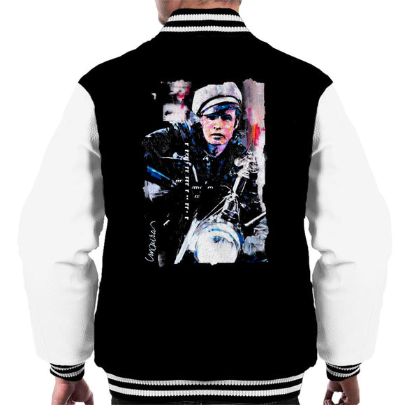 Sidney Maurer Original Portrait Of Marlon Brando The Wild One Men's Varsity Jacket