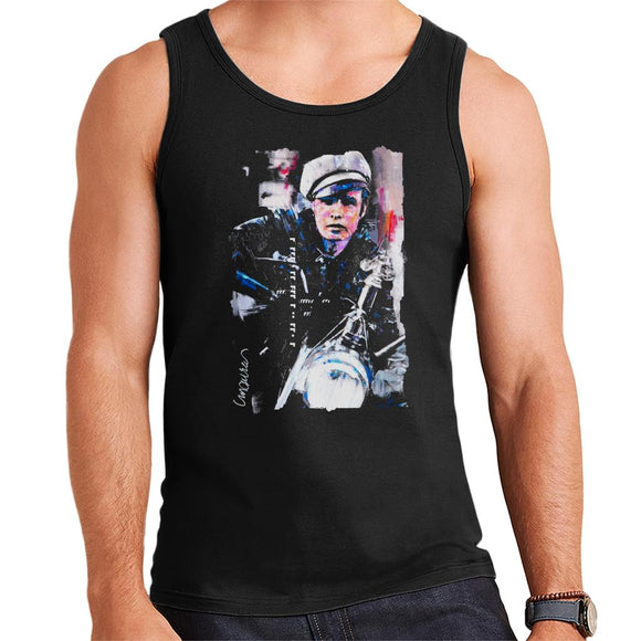 Sidney Maurer Original Portrait Of Marlon Brando The Wild One Men's Vest