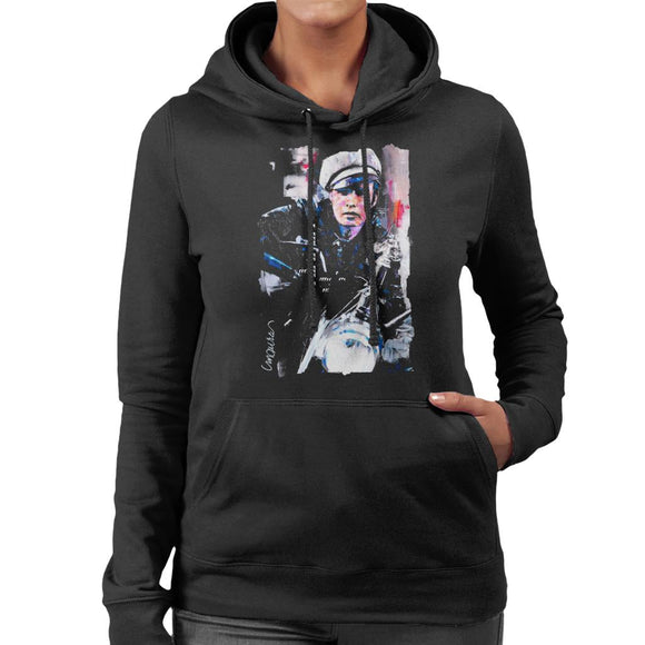 Sidney Maurer Original Portrait Of Marlon Brando The Wild One Women's Hooded Sweatshirt