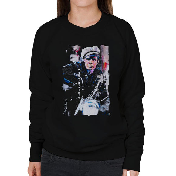 Sidney Maurer Original Portrait Of Marlon Brando The Wild One Women's Sweatshirt