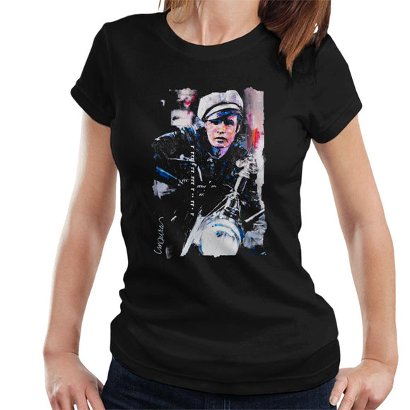 Sidney Maurer Original Portrait Of Marlon Brando The Wild One Women's T-Shirt