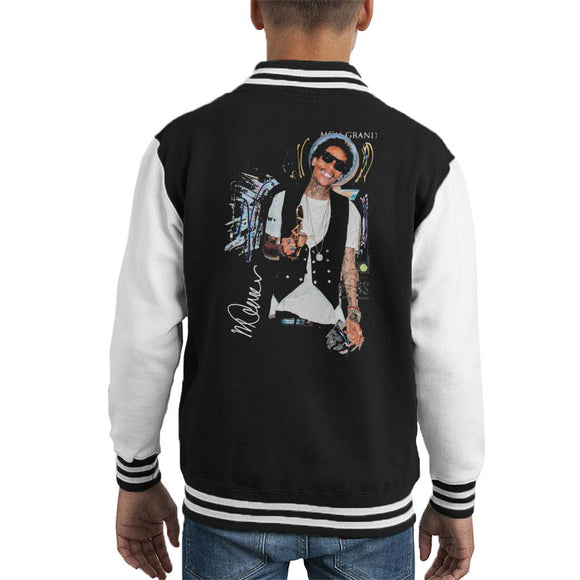 Sidney Maurer Original Portrait Of Wiz Khalifa Billboard Award Kid's Varsity Jacket