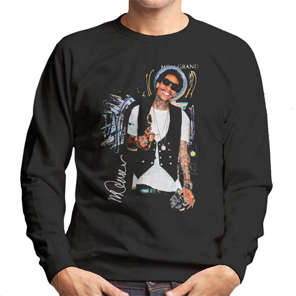 Sidney Maurer Original Portrait Of Wiz Khalifa Billboard Award Men's Sweatshirt