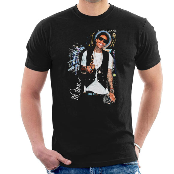 Sidney Maurer Original Portrait Of Wiz Khalifa Billboard Award Men's T-Shirt
