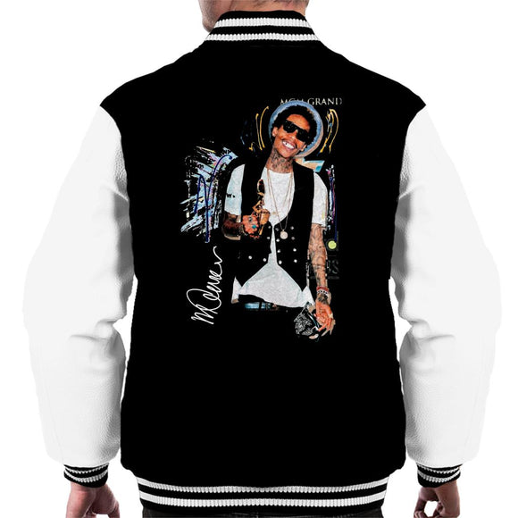Sidney Maurer Original Portrait Of Wiz Khalifa Billboard Award Men's Varsity Jacket